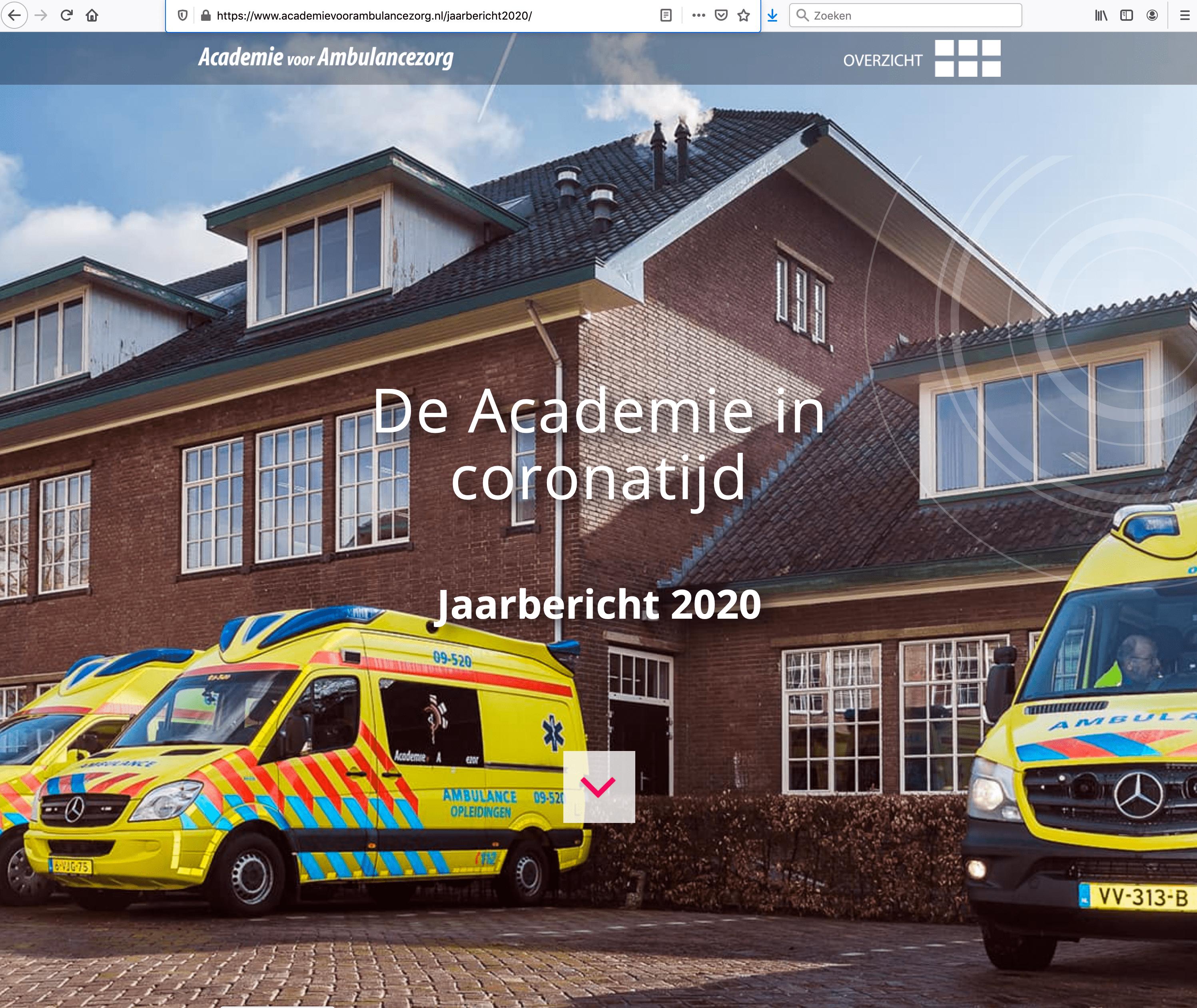Jaarverslag Academie voor Ambulancezorg 2020